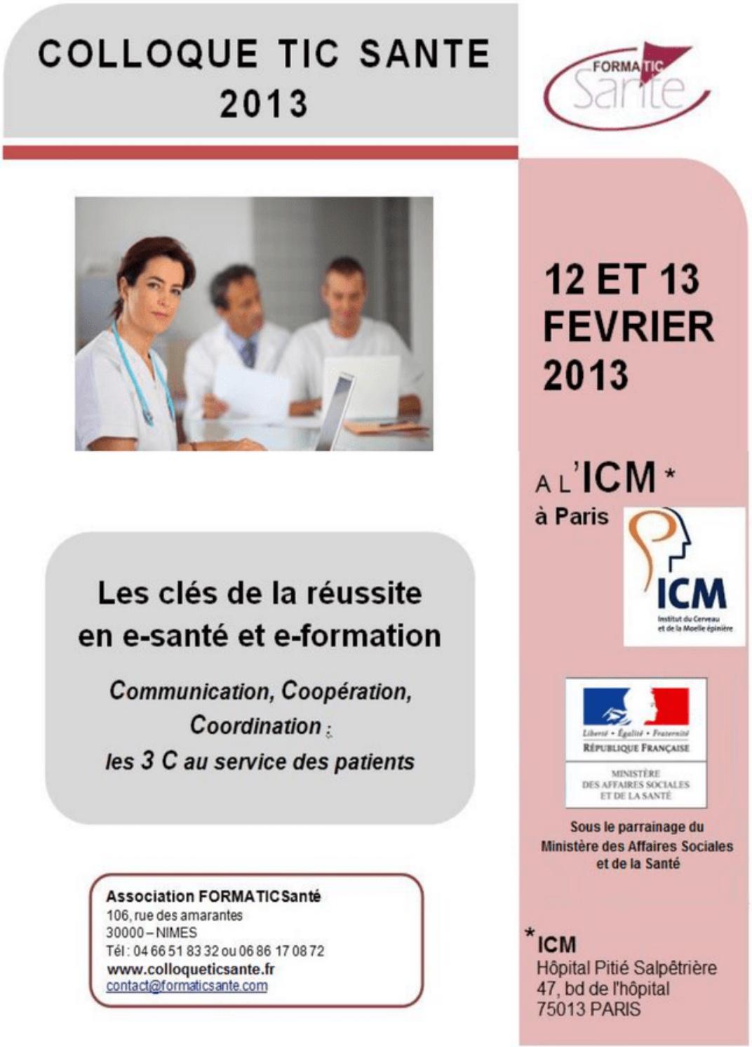 affiche colloque TicSanté 2013