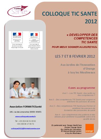 ColloqueTICSante2012